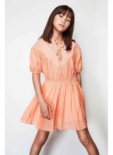 Lia Lea Lia Lea Kız Çocuk Oranj Elbise 19SSLL01631 Oranj